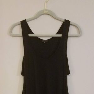 Side cut-out tank dress with jagged hemline